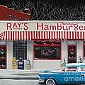 Christmas at Ray's Diner Poster by Catherine Holman