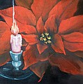 Christmas Candle for Baby Jesus Print by Joni McPherson