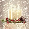 Christmas Candles Poster by Amanda And Christopher Elwell