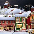 Christmas in Holly Ridge Print by Catherine Holman