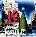 Christmas in Philadelphia Poster by Bill Cannon