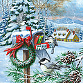 Christmas Mail Poster by Richard De Wolfe