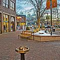 Christmas Old Town Print by Baywest Imaging