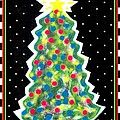 Christmas Tree Polkadots Poster by Genevieve Esson