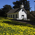 Church in the clover Print by Garry Gay