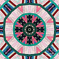 Circular Patchwork Art Poster by Barbara Griffin