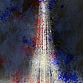 City-Art PARIS Eiffel Tower in National Colours Print by Melanie Viola