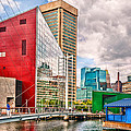 City - Baltimore MD - Harbor Place - Future City  Print by Mike Savad