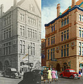 City - Chattanooga TN - 1943 - The Masonic Temple - BOTH Print by Mike Savad