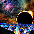 City in Space Print by BRUCE IORIO