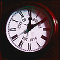 City of Martinez California Town Clock - 5D20862 - Painterly Print by Wingsdomain Art and Photography