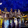 City of Pittsburgh Pennsylvania  Print by Christopher Shellhammer