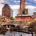 City - Providence RI - The Skyline Poster by Mike Savad