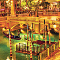 City - Vegas - Venetian - The Venetian at night Poster by Mike Savad