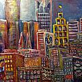 cityscape 9 Print by Don Thibodeaux