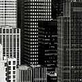 Cityscape in Black and White Poster by Diane Diederich