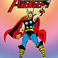 Classic Mighty Thor Poster by Mista Perez Cartoon Art