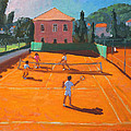 Clay Court Tennis Print by Andrew Macara