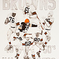 Cleveland Browns 40's to 50's Hall of Famers Print by Joe Lisowski