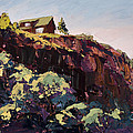 Cliff Hanger Print by Mary Giacomini
