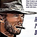 Clint Eastwood High Plains Drifter Poster by James Griffin
