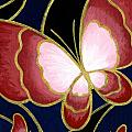 Cloisonne Butterfly Poster by Elaina  Wagner