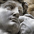Close-up face Statue of David in Florence Poster by David Smith
