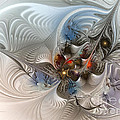 Cloud Cuckoo Land-Fractal Art Poster by Carlita Cooly