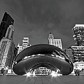 Cloud Gate and Skyline Poster by Adam Romanowicz