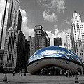 Cloud Gate B-W Chicago Poster by David Bearden