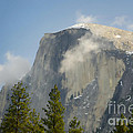 Clouds around Half Dome  Poster by Jim and Emily Bush