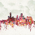 Clouds Over Houston Texas Usa Poster by Aged Pixel