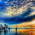 Clouds over Louisville Print by Darren Fisher