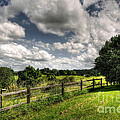 Cloudy Day in the Country Poster by Kaye Menner
