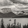 Cloudy Mountain Top Poster by Jon Glaser