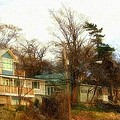 Coastal Living On The Dunes Of The Big Lake Poster by Rosemarie E Seppala