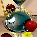 Cocktail by the Spa Poster by Kaye Menner