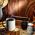 Coffee Break at the Chuck Wagon Print by Olivier Le Queinec