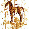 Coffee Foal Poster by Zaira Dzhaubaeva