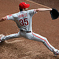 Cole Hamels - Pregame Warmup Print by Stephen Stookey