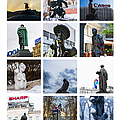 Collage - Moscow Monuments - Featured 3 Poster by Alexander Senin