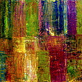 Color Panel Abstract Print by Michelle Calkins
