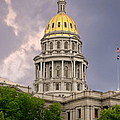 Colorado State Capitol Building Denver CO Poster by Christine Till