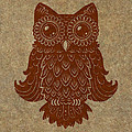 Colored Owl 2 of 4  Poster by Kyle Wood