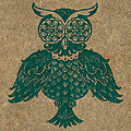 Colored Owl 4 of 4  Print by Kyle Wood