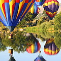 Colorful Balloons Fill the Frame Print by Carol Groenen