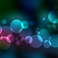 Colorful defocused lights Poster by Aged Pixel