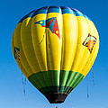 Colorful Hot Air Balloon over Vermont Print by Edward Fielding