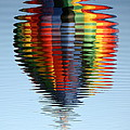 Colorful Hot Air Balloon Ripples Poster by Carol Groenen