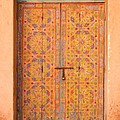 Colourful Entrance Door Sale Rabat Morocco Print by Ralph A  Ledergerber-Photography